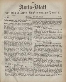 Amts-Blatt der Königlichen Regierung zu Danzig, 24. Mai 1871, Nr. 21