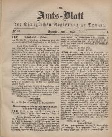 Amts-Blatt der Königlichen Regierung zu Danzig, 7. Juni 1871, Nr. 23