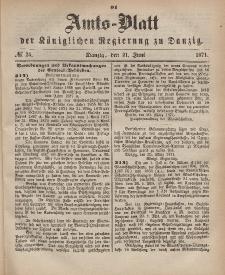Amts-Blatt der Königlichen Regierung zu Danzig, 21. Juni 1871, Nr. 25