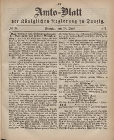 Amts-Blatt der Königlichen Regierung zu Danzig, 28. Juni 1871, Nr. 26