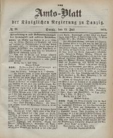 Amts-Blatt der Königlichen Regierung zu Danzig, 12. Juli 1871, Nr. 28
