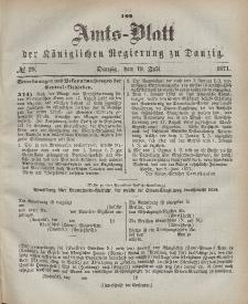 Amts-Blatt der Königlichen Regierung zu Danzig, 19. Juli 1871, Nr. 29
