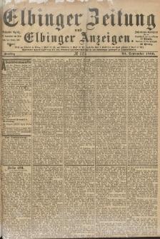 Elbinger Zeitung und Elbinger Anzeigen, Nr. 223 Freitag 24. September 1886
