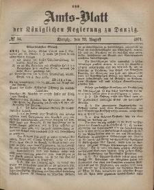 Amts-Blatt der Königlichen Regierung zu Danzig, 23. August 1871, Nr. 34
