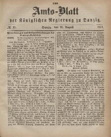 Amts-Blatt der Königlichen Regierung zu Danzig, 30. August 1871, Nr. 35