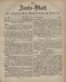 Amts-Blatt der Königlichen Regierung zu Danzig, 6. September 1871, Nr. 36