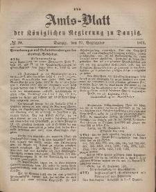 Amts-Blatt der Königlichen Regierung zu Danzig, 27. September 1871, Nr. 39