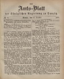 Amts-Blatt der Königlichen Regierung zu Danzig, 11. Oktober 1871, Nr. 41