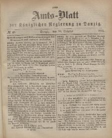 Amts-Blatt der Königlichen Regierung zu Danzig, 18. Oktober 1871, Nr. 42