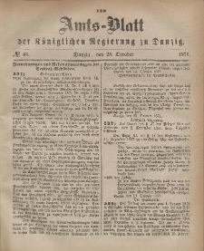 Amts-Blatt der Königlichen Regierung zu Danzig, 25. Oktober 1871, Nr. 43