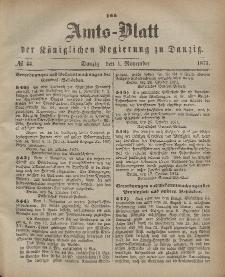 Amts-Blatt der Königlichen Regierung zu Danzig, 1. November 1871, Nr. 44