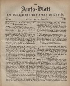 Amts-Blatt der Königlichen Regierung zu Danzig, 15. November 1871, Nr. 46