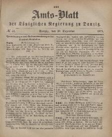 Amts-Blatt der Königlichen Regierung zu Danzig, 20. Dezember 1871, Nr. 51
