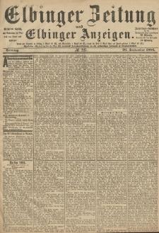 Elbinger Zeitung und Elbinger Anzeigen, Nr. 225 Sonntag 26. September 1886