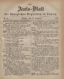 Amts-Blatt der Königlichen Regierung zu Danzig, 27. Dezember 1871, Nr. 52