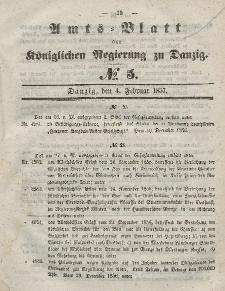 Amts-Blatt der Königlichen Regierung zu Danzig, 4. Februar 1857, Nr. 5