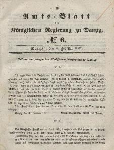 Amts-Blatt der Königlichen Regierung zu Danzig, 11. Februar 1857, Nr. 6