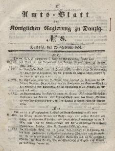 Amts-Blatt der Königlichen Regierung zu Danzig, 25. Februar 1857, Nr. 8
