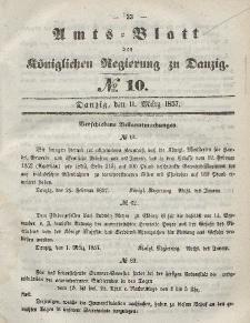 Amts-Blatt der Königlichen Regierung zu Danzig, 11. März 1857, Nr. 10