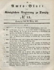 Amts-Blatt der Königlichen Regierung zu Danzig, 18. März 1857, Nr. 11