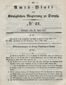 Amts-Blatt der Königlichen Regierung zu Danzig, 27. Mai 1857, Nr. 21