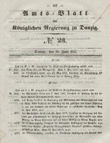 Amts-Blatt der Königlichen Regierung zu Danzig, 10. Juni 1857, Nr. 23