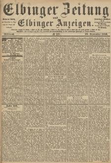 Elbinger Zeitung und Elbinger Anzeigen, Nr. 227 Mittwoch 29. September 1886