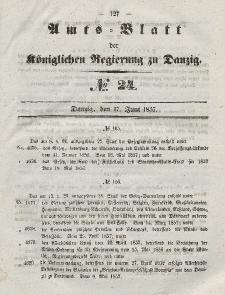 Amts-Blatt der Königlichen Regierung zu Danzig, 17. Juni 1857, Nr. 24