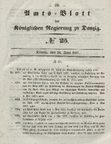 Amts-Blatt der Königlichen Regierung zu Danzig, 24. Juni 1857, Nr. 25
