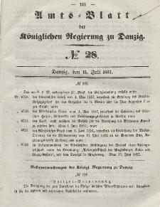 Amts-Blatt der Königlichen Regierung zu Danzig, 15. Juli 1857, Nr. 28