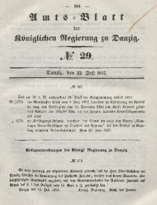 Amts-Blatt der Königlichen Regierung zu Danzig, 22. Juli 1857, Nr. 29
