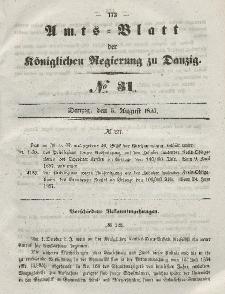 Amts-Blatt der Königlichen Regierung zu Danzig, 5. August 1857, Nr. 31