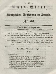 Amts-Blatt der Königlichen Regierung zu Danzig, 19. August 1857, Nr. 33