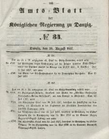 Amts-Blatt der Königlichen Regierung zu Danzig, 26. August 1857, Nr. 34