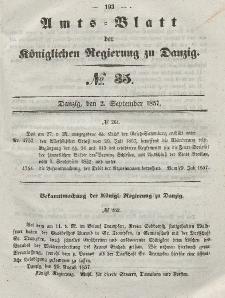 Amts-Blatt der Königlichen Regierung zu Danzig, 2. September 1857, Nr. 35