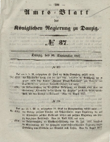 Amts-Blatt der Königlichen Regierung zu Danzig, 16. September 1857, Nr. 37