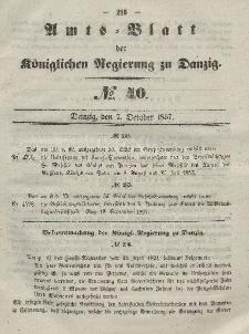 Amts-Blatt der Königlichen Regierung zu Danzig, 7. Oktober 1857, Nr. 40