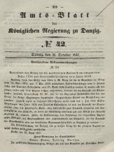 Amts-Blatt der Königlichen Regierung zu Danzig, 21. Oktober 1857, Nr. 42
