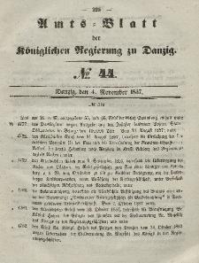 Amts-Blatt der Königlichen Regierung zu Danzig, 4. November 1857, Nr. 44