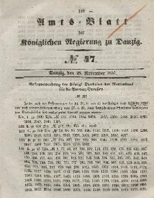 Amts-Blatt der Königlichen Regierung zu Danzig, 25. November 1857, Nr. 47