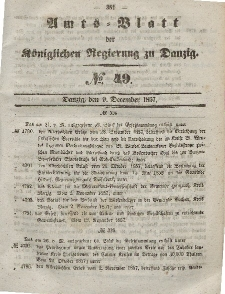 Amts-Blatt der Königlichen Regierung zu Danzig, 9. Dezember 1857, Nr. 49