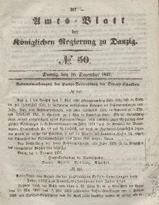 Amts-Blatt der Königlichen Regierung zu Danzig, 16. Dezember 1857, Nr. 50