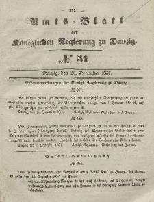 Amts-Blatt der Königlichen Regierung zu Danzig, 23. Dezember 1857, Nr. 51