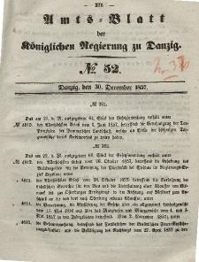 Amts-Blatt der Königlichen Regierung zu Danzig, 30. Dezember 1857, Nr. 52