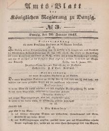 Amts-Blatt der Königlichen Regierung zu Danzig, 20. Januar 1847, Nr. 3