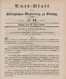 Amts-Blatt der Königlichen Regierung zu Danzig, 17. März 1847, Nr. 11