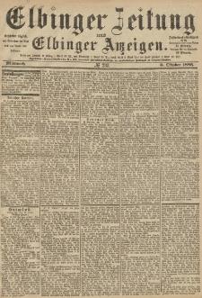 Elbinger Zeitung und Elbinger Anzeigen, Nr. 233 Mittwoch 6. Oktober 1886