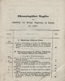 Amts-Blatt der Königlichen Regierung zu Danzig. Jahrgang 1855 (Chronologisches Register)
