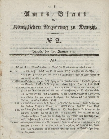 Amts-Blatt der Königlichen Regierung zu Danzig, 10. Januar 1855, Nr. 2