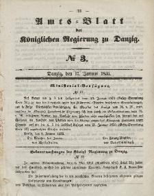 Amts-Blatt der Königlichen Regierung zu Danzig, 17. Januar 1855, Nr. 3